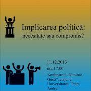 afis dezbatere politica