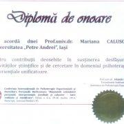 diploma SPER Mariana Caluschi