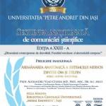 Invitație Sesiune Națională Comunicări Științifice Editia a XXIII-a – UPA din Iași
