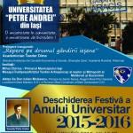 """Festivitate deschidere an universitar 2015-2016 Universitatea """"Petre Andrei"""" din Iași"""