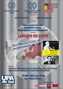 afis lansare carte Mircea Carp jpeg resize