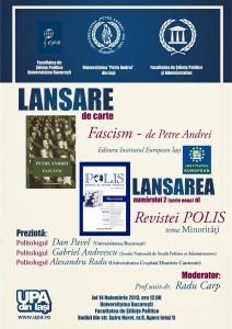 AFIS LANSARE Bucuresti 14 noiembrie