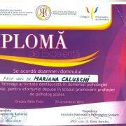 diploma Mariana Caluschi